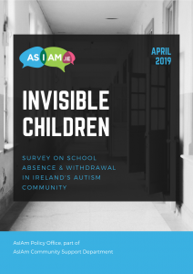 invisible children_survey on school absence & withdrawal in Ireland's autism community