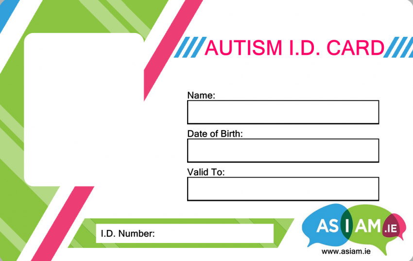 Autism ID Card Application Form - AsIAm ie